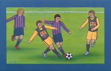 Entrenament nois del Barça
