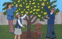 Cogiendo limones