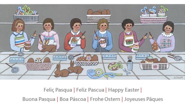 Feliç Pasqua, Feliz Pascua, Happy Easter by Maria Fatjo Pares