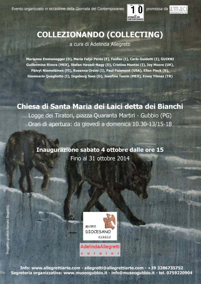 Collezionando Exhibition curated by A. Allegretti (Gubbio - PG, Italia)
